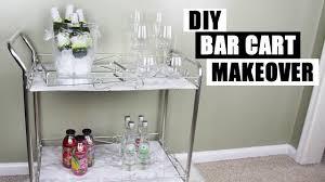 DIY BAR CART MAKEOVER | How To Style A Bar Cart | DIY Faux Marble & Chrome Bar  Cart | DIY Home Decor