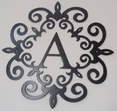 unbelievable wrought iron monogram wall decor metal scroll wall art teal rustic scrolled metal wall art