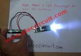 high power led flashlight circuit 1 5v aa battery high power 6 led flashlight for 1 5v aa battery