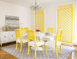 yellow and gray room contemporary dining room diane yellow dining table chairs