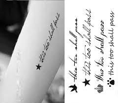 Tetování Samolepky Věty Anglické Vodotěsné Jednorázové Tetování Malé