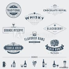 Lettering Templates Wisky Hipster Logo Design Vector Typography Lettering