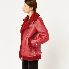 warehouse oversized biker bright red 1