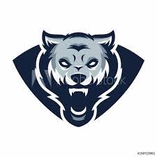Fotografie Obraz Wolf Vector Logoicon Illustration Mascot