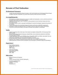 Example Of Resume Summary Resumes Cv Executive Sample Statement