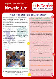 october newsletter ideas read our august october newsletter kids corner day nursery and