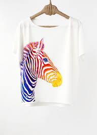 How To Design A Shirt With Paint Hand Painted Designer Shirts Handpainted Animal Shirt Zebra Shirt