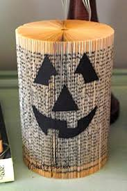 Image result for halloween crafts using old books