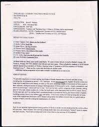 Teacher Syllabus David Foster Wallaces 1994 Syllabus How To Teach Serious