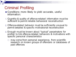 simon fraser university psyc professor ronald roesch ppt  25 criminal profiling conditions