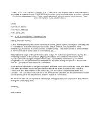 sample letter to terminate contract letter contract termination letter