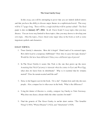 great gatsby essay thesis great gatsby essay ideas