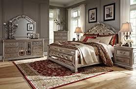 Amazon Ashley Birlanny Mirrored Panel Bedroom Set Queen