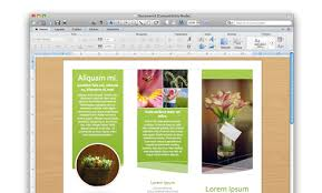 Word 2010 Flyer Template Word Document Brochure Template Powerpoint