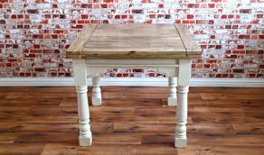 extending rustic farmhouse dining table drop leaf natural or painted finish folding ergonomic space saving extendable