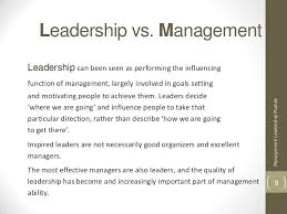 leadership vs management leadership vs