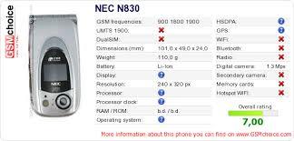NEC N830 :: GSMchoice.com