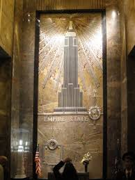 empire state building interior. empire state building lobby mural interior