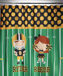 football shower curtain personalized
