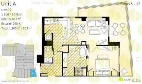 floors 5 17 interior 813 ft2 76 m2 exterior 290 ft2 27 m2 total 1103 ft2 103 m2