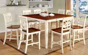 torrington white and oak finish 9 piece counter height dining set