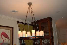 wrought iron votive candle chandelier
