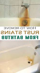 how to remove rust stains from shower walls how to get rust stains out of bathtub how to remove