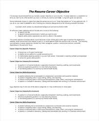 objective examples resume resume career objective examples perfect goals for goal ideas