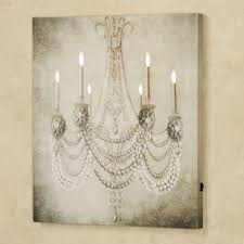 touch to zoom on lighting up wall art with vintage chandelier led lighted canvas art