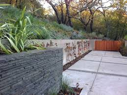modern retaining wall retaining wall ideas landscape contemporary with grass raised bed planters slope modern retaining modern retaining wall