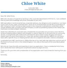 Legal Cover Letter Examples Samples Templates Resume Com