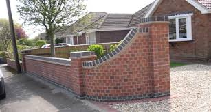 Front Garden Brick Wall Designs