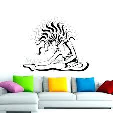 yoga wall art yoga wall art fitness yoga wall stickers vinyl art removable modern wall decals