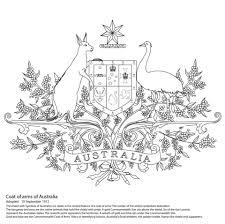 Het Wapenschild Van Australian Kleurplaat Gratis Kleurplaten Printen