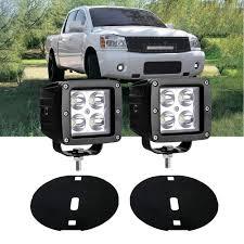 2006 Nissan Titan Fog Light Switch 2004 2015 Nissan Titan Mounting Brackets Full Set Include 3 Inch 20w Cree Led Work Light Cubes And Fog Light Mounts Jubatus
