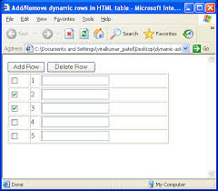 Dynamically Add/Remove rows in HTML table using JavaScript