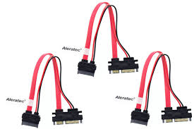 8 inch slimline sata to sata female male adapter power 3 pack