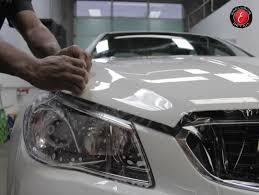 car protective applied on the hood of a chevrolet ss