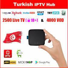 Türk IPTV KUTUSU 2500 Canlı TV 4000 VOD Mickyhop OS ile 4 K Ultra HD Migo  TV KUTUSU Android GooglePlay turkish iptv box