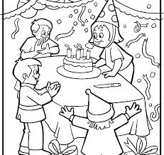pretty party coloring page z2017 birthday party coloring page within birthday party coloring pages birthday party