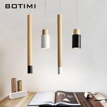 black kitchen lighting. BOTIMI Nordic Designer Pendant Lights Dining Modern Hanging Lamp White Black Wood Kitchen Lighting