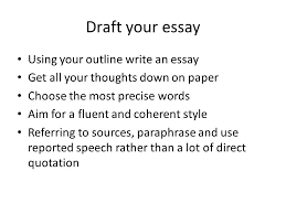 writing an academic essay ppt video online  draft your essay using your outline write an essay