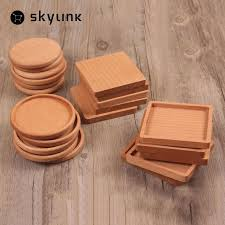 2019 whole square and round mini wooden pallet whiskey wine glass cup mat pad hot cold drink coasters mug wood kitchen table mats from copy02