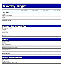 Monthly Budget Calculator Template Spreadsheet Excel Personal