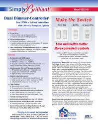 upb 101 simply automated dual dimmer controller