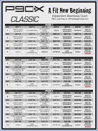 p90x clic worksheets fresh p90x clic workout schedule sheet 1226520