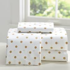 gold polka dot sheets apartments metallic gold polka dot sheet set