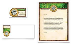 Tree Service Business Card Letterhead Template Design