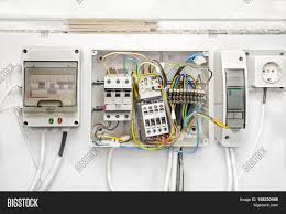 breakers switch flat image & photo (free trial) bigstock electric box fuse box ct diagram breakers switch flat fuse electric box circuit breakers electrical panel switch with wires electric meter in
