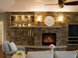 stones wall living space